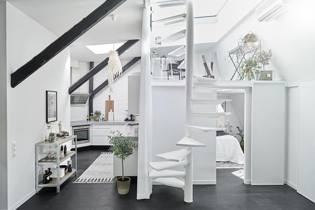 Un appartement sous les toits