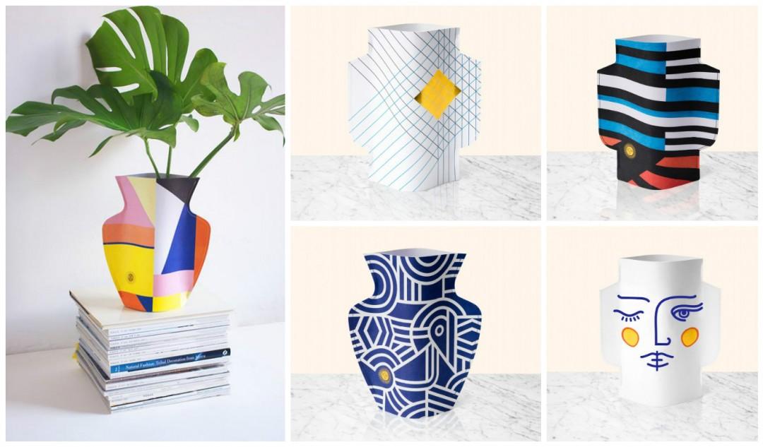 l 39 indispensable le paper vase by octaevo aventure d co. Black Bedroom Furniture Sets. Home Design Ideas