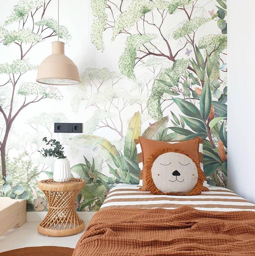 Deco Jungle Chambre Enfant papier peint foret jungle pour chambre d'enfant – aventure déco