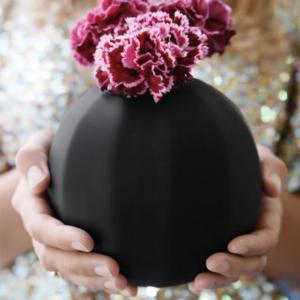 Vase « Noir mat absolu »